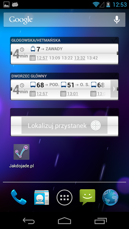 jakdojade.pl - screenshot