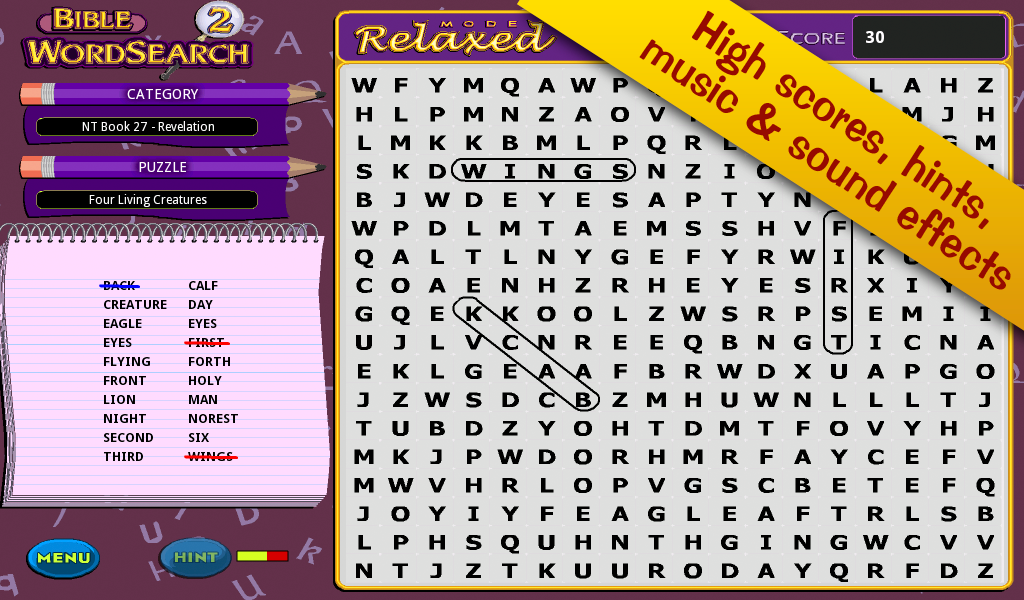 Bible Word Search 2!- screenshot