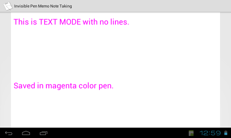 Invisible Pen Memo Note Taking- screenshot