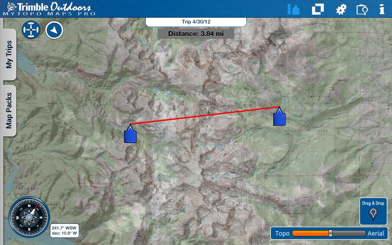 MyTopo Maps Pro by Trimble - screenshot