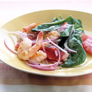 Shrimp and Grapefruit Spinach Salad Recipe