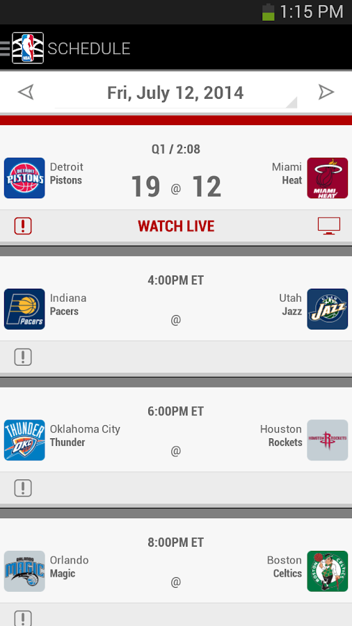 NBA Summer League 2014 - screenshot