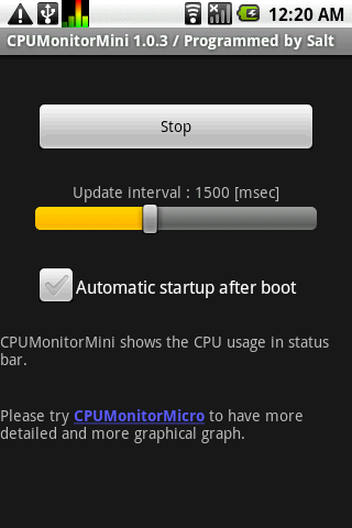 CPUMonitorMini - screenshot