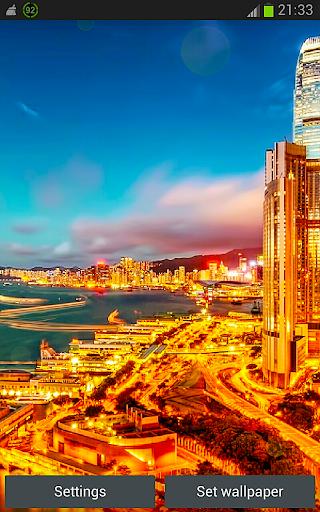 Gold City HD Live Wallpaper