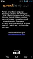 Screenshot of Spread Signs