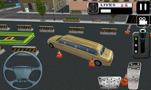 豪華轎車停車模擬器3D