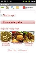 Screenshot of recepten.se
