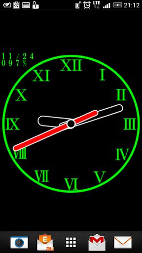 設計模擬時鐘壁紙 - No09