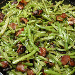 Sweet And Sour Green Beans.