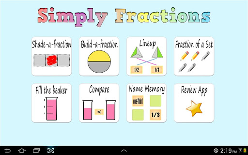 Simply Fractions math games