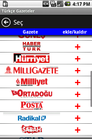 Turkish Newspapers - screenshot