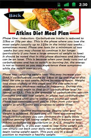 Atkins Diet Meal Plan