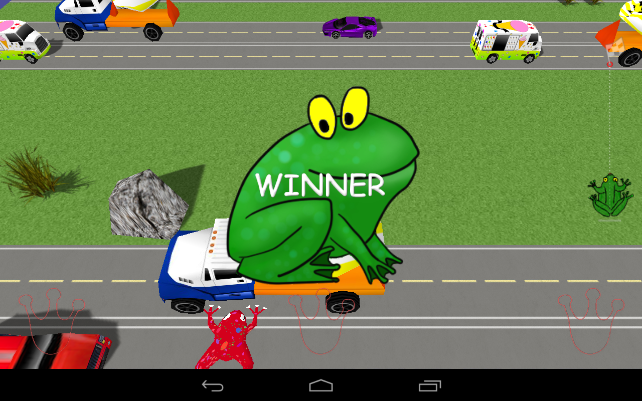 Frog Race 3D - screenshot
