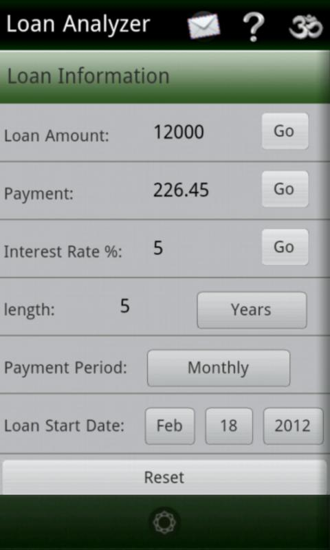 Loan Analyzer - screenshot