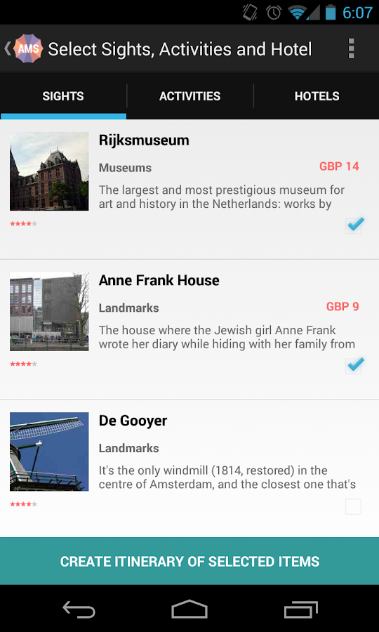 Holidayen Amsterdam - screenshot