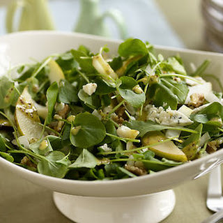 Spelt Wheat, Pear And Watercress Salad.
