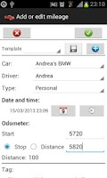 Screenshot of AndiCar - Mileage & Trip log