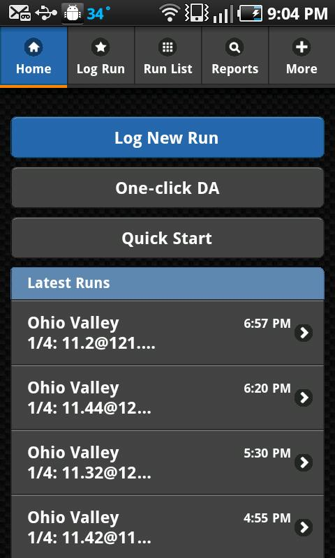 RaceIQ Drag Race Racing Log - screenshot