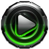 Poweramp skin Green Glow