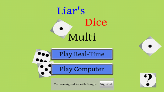 Liars Dice Multi- screenshot thumbnail