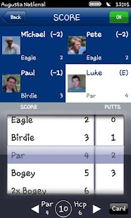 [Mobitee GPS Golf Scorecard] Screenshot 2