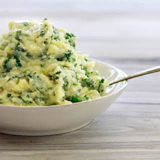 Colcannon with Leeks and Kale.