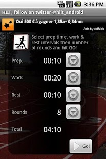 HIIT interval training timer