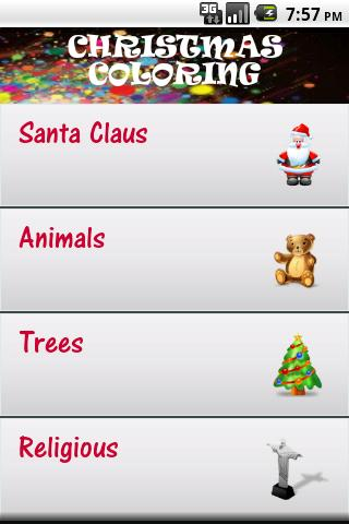 Christmas Coloring 4 Kids App