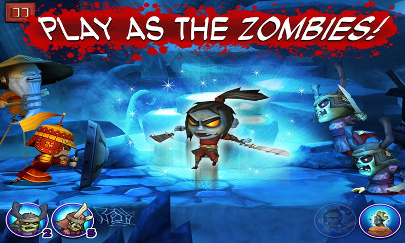 SAMURAI vs ZOMBIES DEFENSE- screenshot