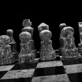Chess by Dave Freeman - Black & White Objects & Still Life
