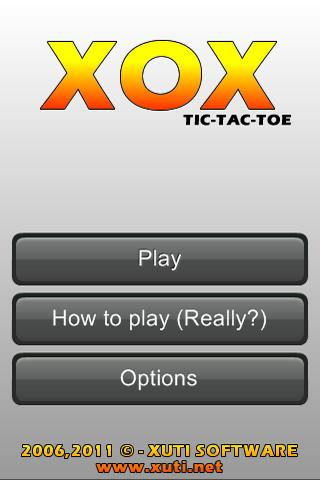 XOX - Tic Tac Toe- screenshot