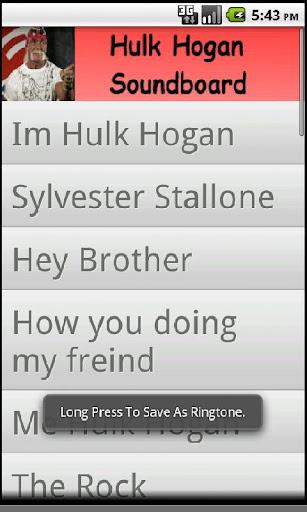 Hulk Hogan Soundboard