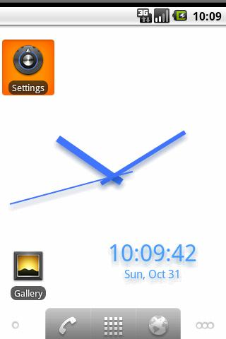 BGClock Live WallPaper - screenshot