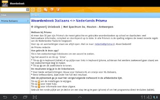 Screenshot of Woordenboek Italiaans Prisma