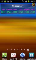 Screenshot of Salat Time Widget