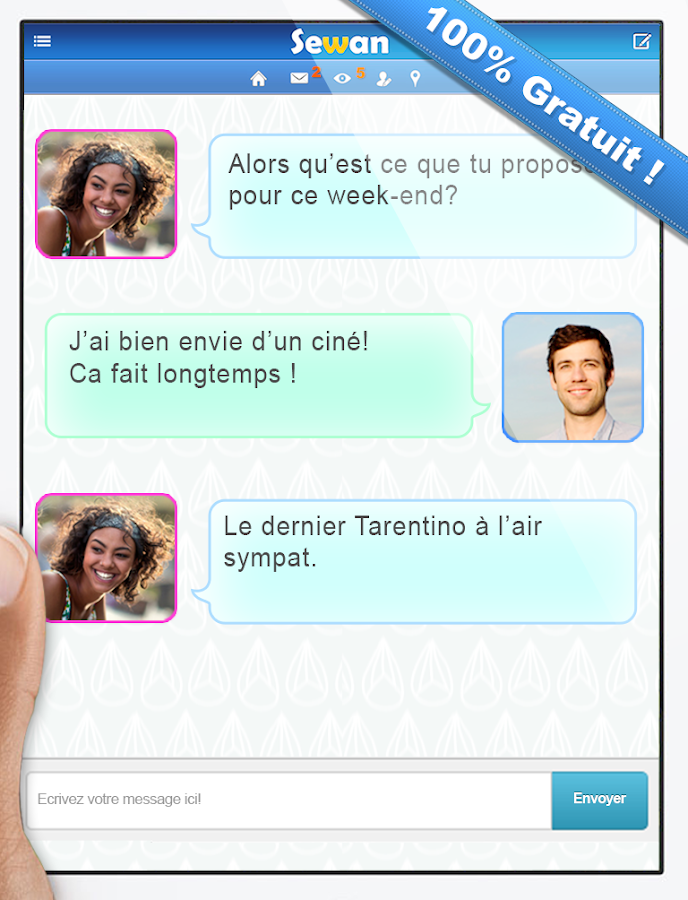 Application rencontre 100 gratuit
