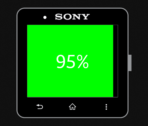 Battery Meter for SmartWatch 2