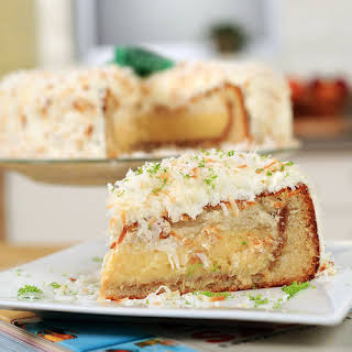 Key Lime Pie in a Coconut Cake.