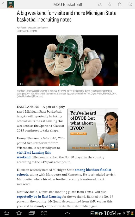 MLive.com: MSU Basketball News- screenshot