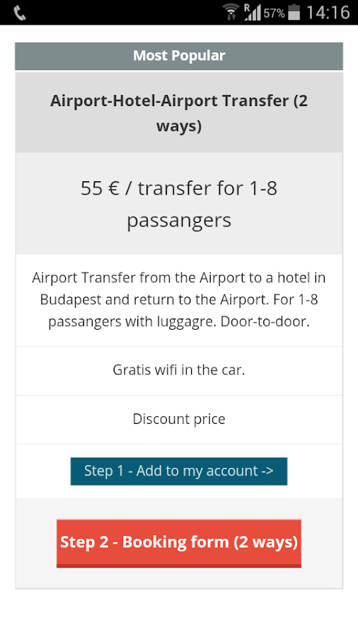 Budapest Airport Transfer- screenshot