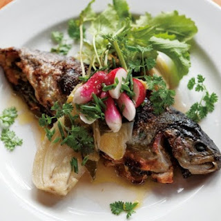 Ned Ludd's Stuffed Ruby Trout, Fennel, Scallions, and Herbs