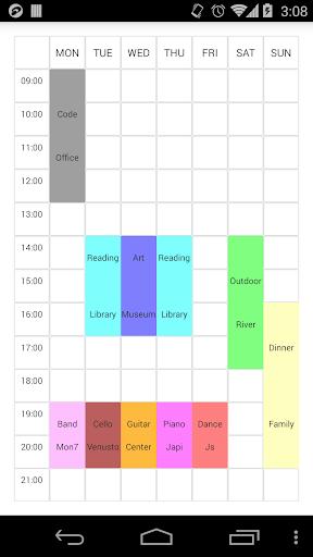 【免費生活App】Simple TimeTable-APP點子
