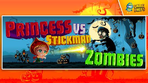 Princess vs Stickman Zombies