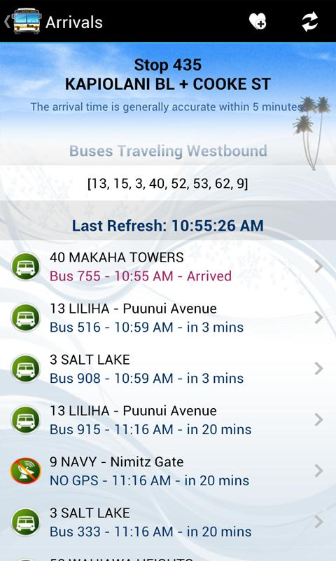 DaBus - The Oahu Bus App- screenshot