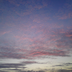 Red and blue clouds by Aleksa Stankovic - Landscapes Cloud Formations ( sky, cloudscape, cloud,  )