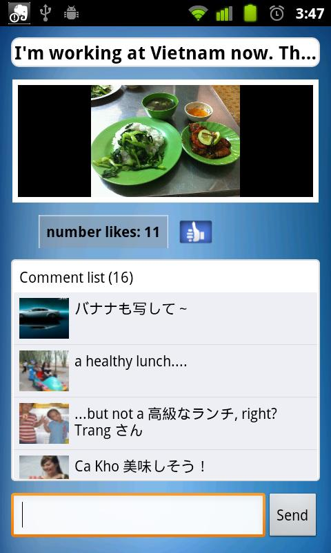 Yubee plugin for Facebook Lite - screenshot