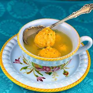 Sweet Potato and Cream Cheese Matzah Balls.