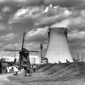 Old & New energy by Edzo Boven - Black & White Buildings & Architecture ( pentax,  )