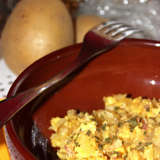 Scrambled Eggs and Potatoes.