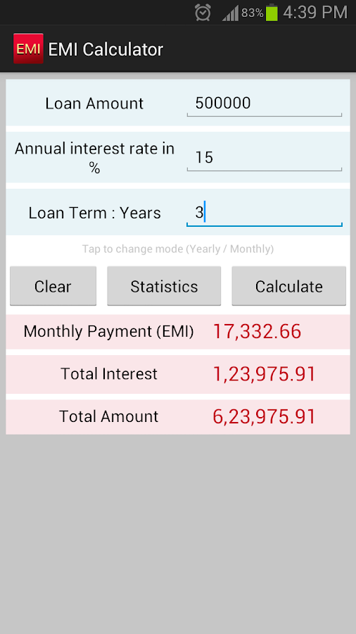 Sbi bank car loan interest rate calculator